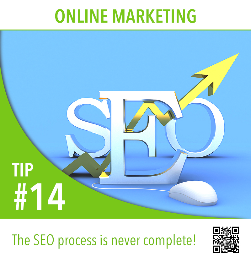 The SEO process is never complete!