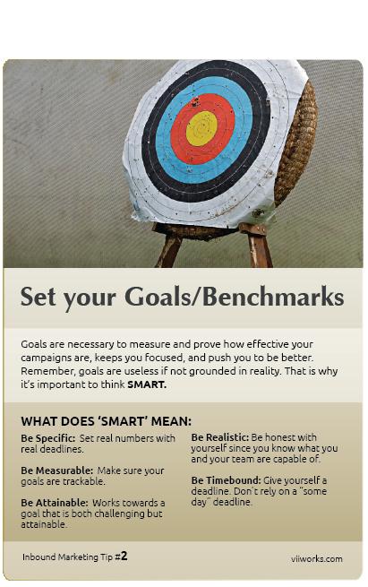 Set your Goals/Benchmarks