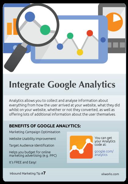 Integrate Google Analytics.
